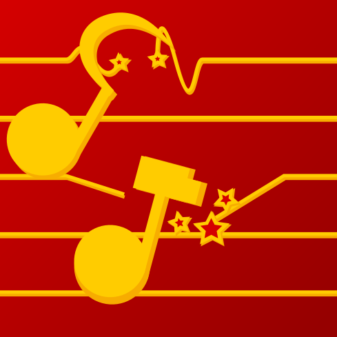Illustration pour une jaquette de chant militant
