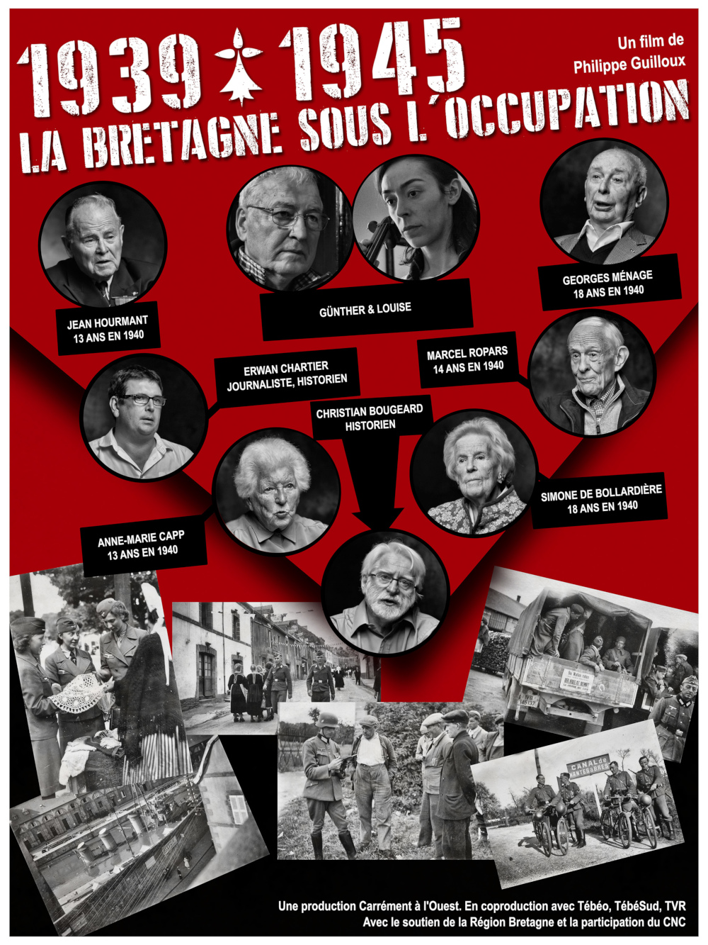 Affiche du film 1939-1945, la Bretagne sous l'occupation