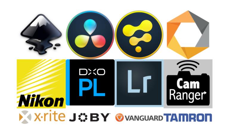Equipements et logiciels utilisés par Liv ha Luc'h - Logiciels de montage vidéo, de retouche photographique, de dispositifs de prise de vue...