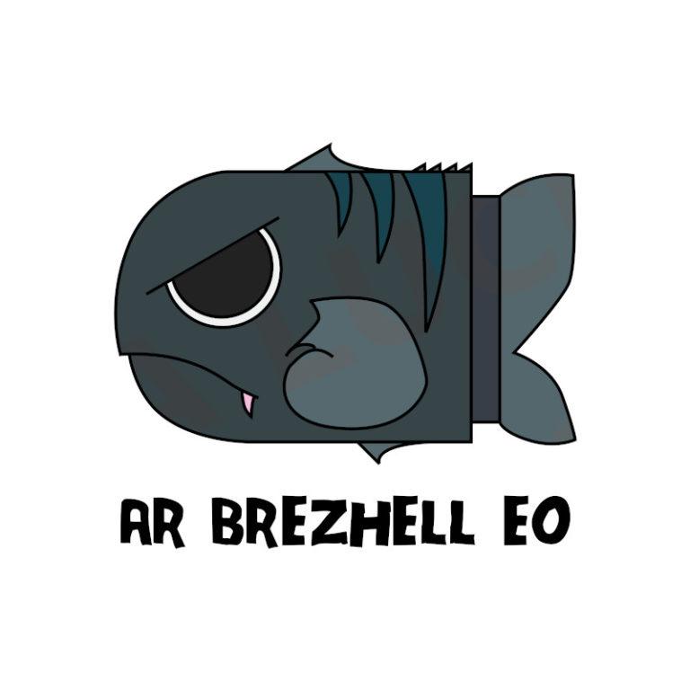 Ar Brezhell eo - Visuel réalisé pour des t-shirts en breton (#bzhg, èl rezon !)