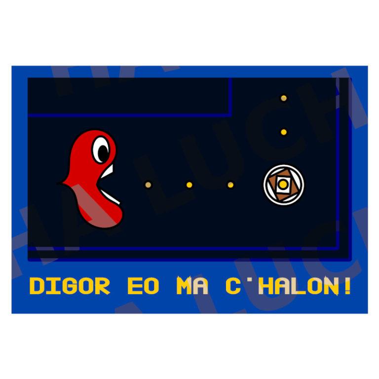 Digor eo ma c'halon ! - Visuel réalisé pour des t-shirts en breton (#bzhg, èl rezon !)