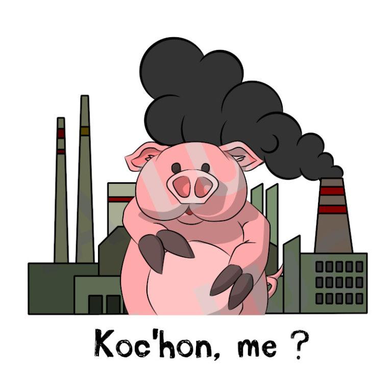 Koc'hon, me ? - Visuel réalisé pour des t-shirts en breton (#bzhg, èl rezon !)