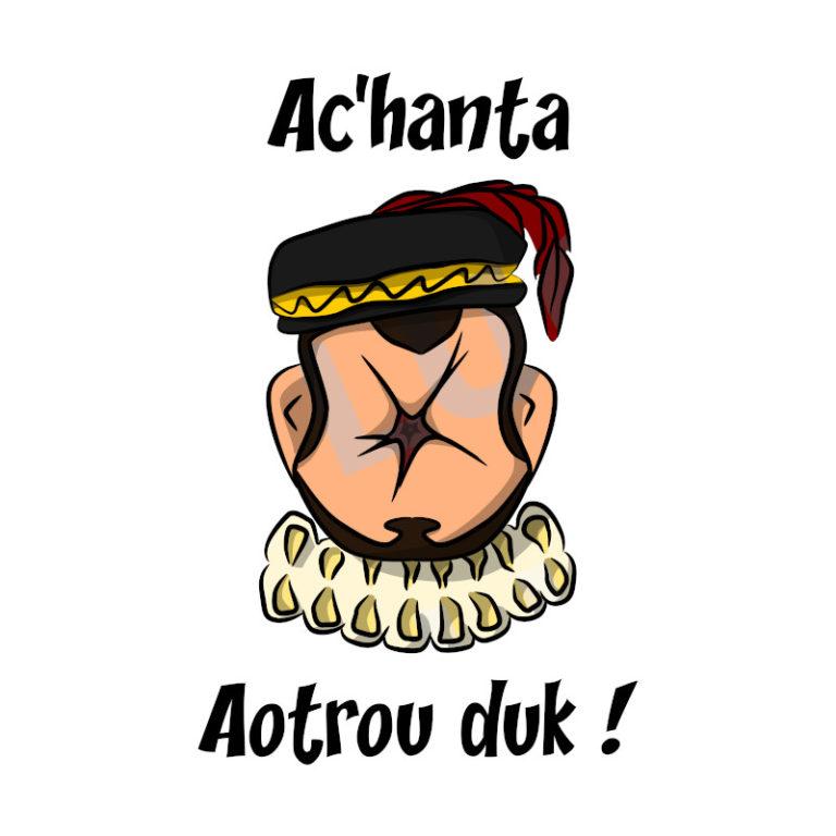 Aoutrou duk ! - Visuel réalisé pour des t-shirts en breton (#bzhg, èl rezon !)