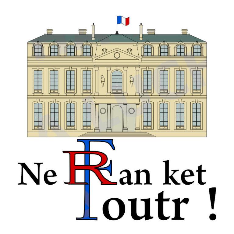 Ne ran ket foutr ! - Visuel réalisé pour des t-shirts en breton (#bzhg, èl rezon !)