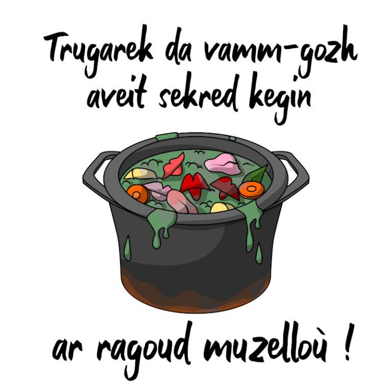 Ar ragoud muzelloù - Visuel réalisé pour des t-shirts en breton (#bzhg, èl rezon !)