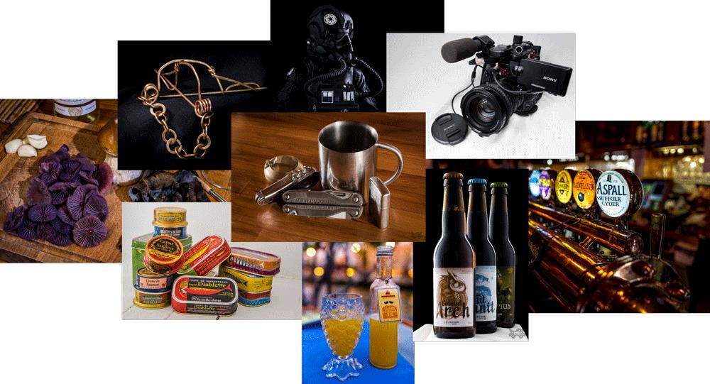 Illustration de la prestation de prise de vue de produits et lieux (publicité, packshot)