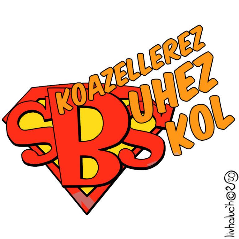 Skoazellerez Bhuez Skol - Visuel réalisé pour des t-shirts en breton (#bzhg, èl rezon !)