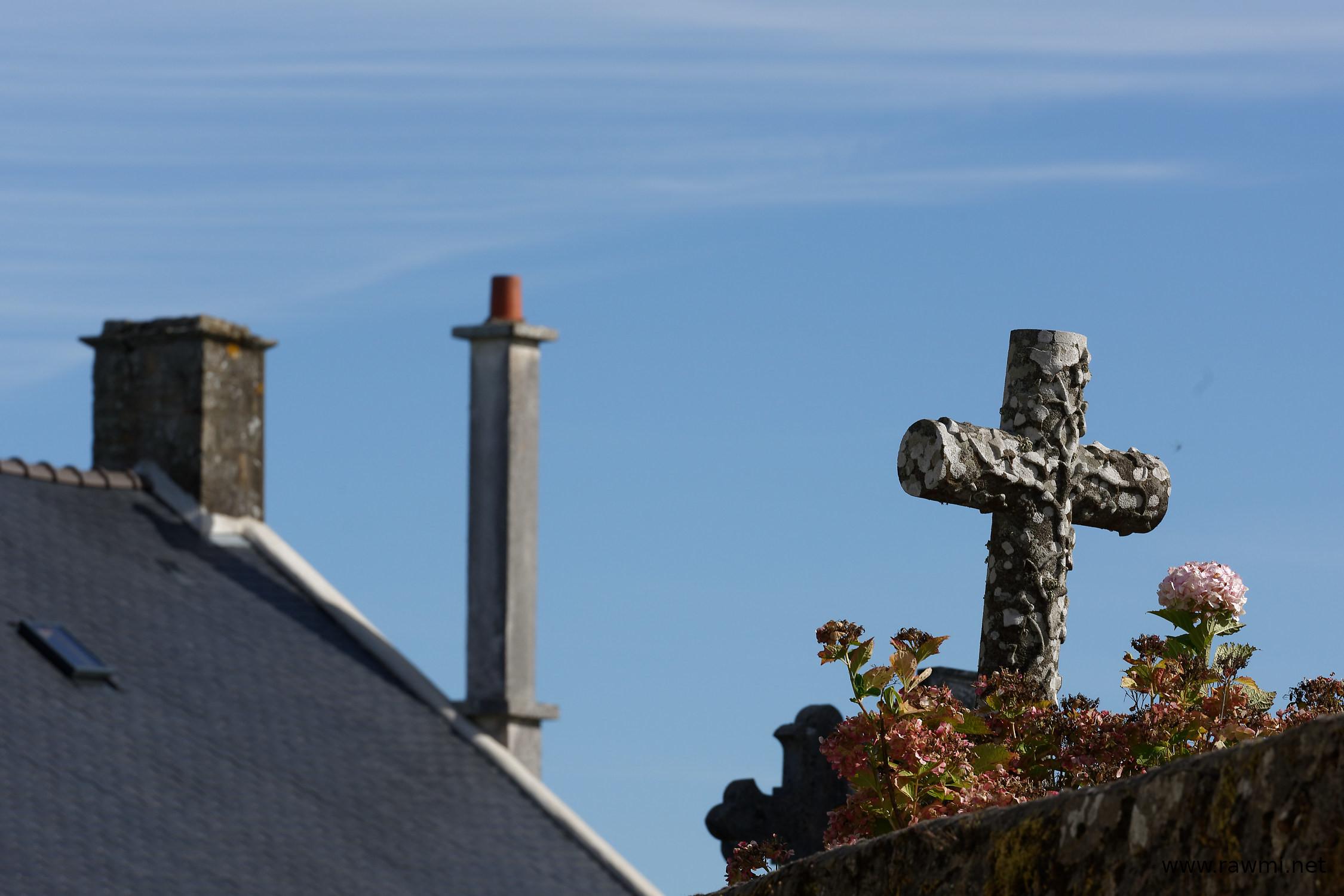 Vue de cimetière