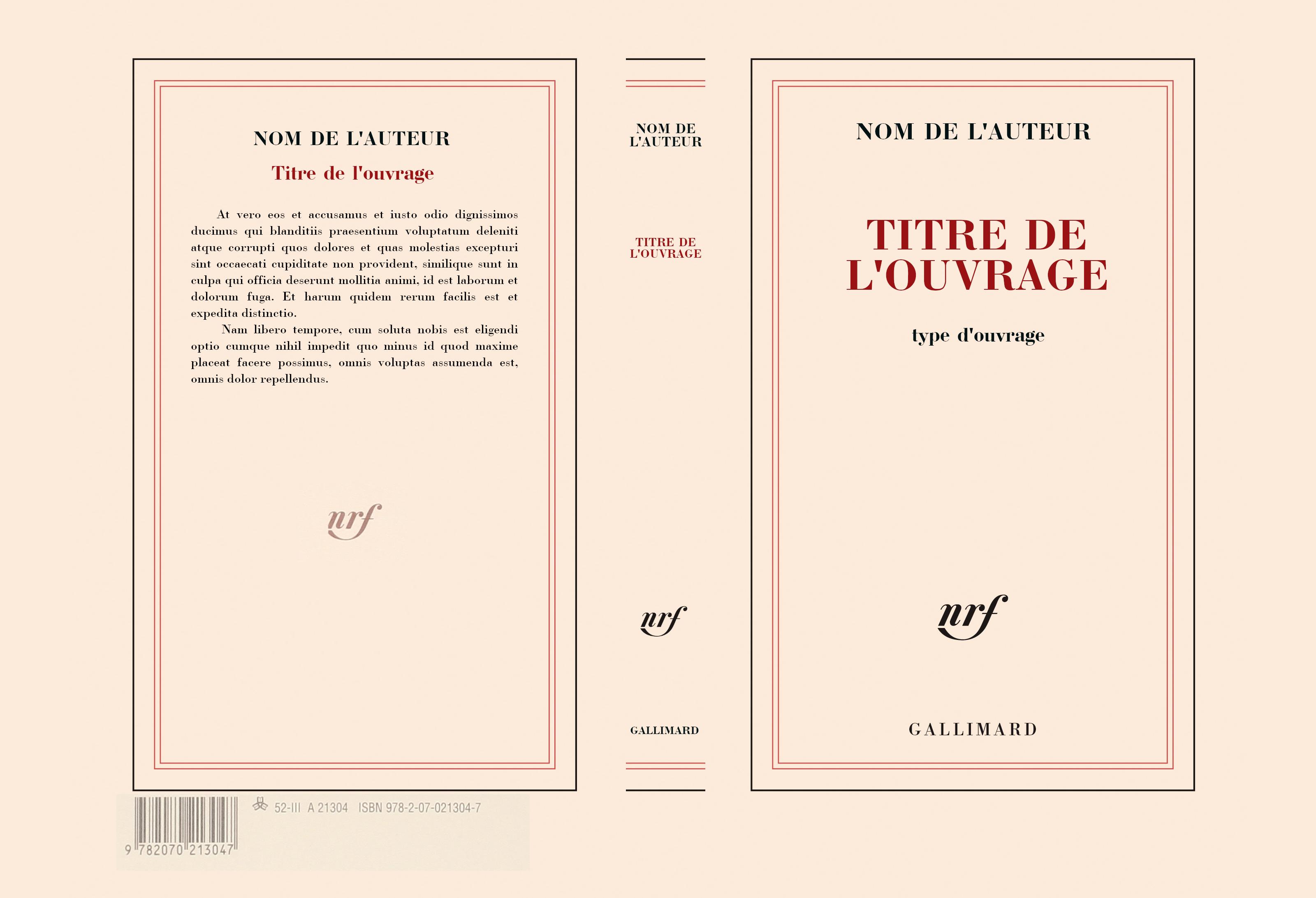 Couverture Vierge, Gallimard, NRF