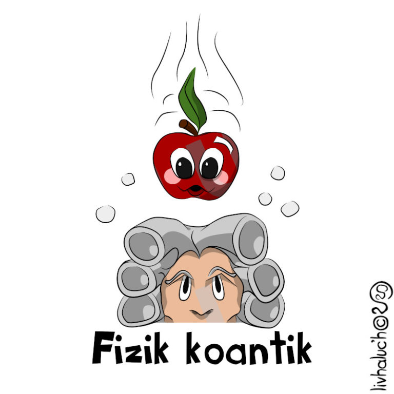Fizik koantik - Visuel réalisé pour des t-shirts en breton (#bzhg, èl rezon !)