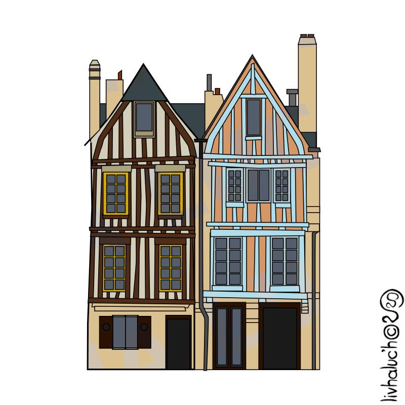 Les maisons à colombage du Port de Vannes