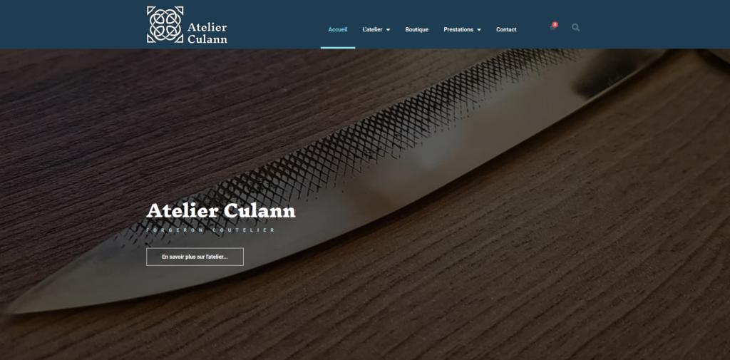 Site internet de l'Atelier Culann (artisan coutelier à proximité de Montigny-sur-Aube (21520))