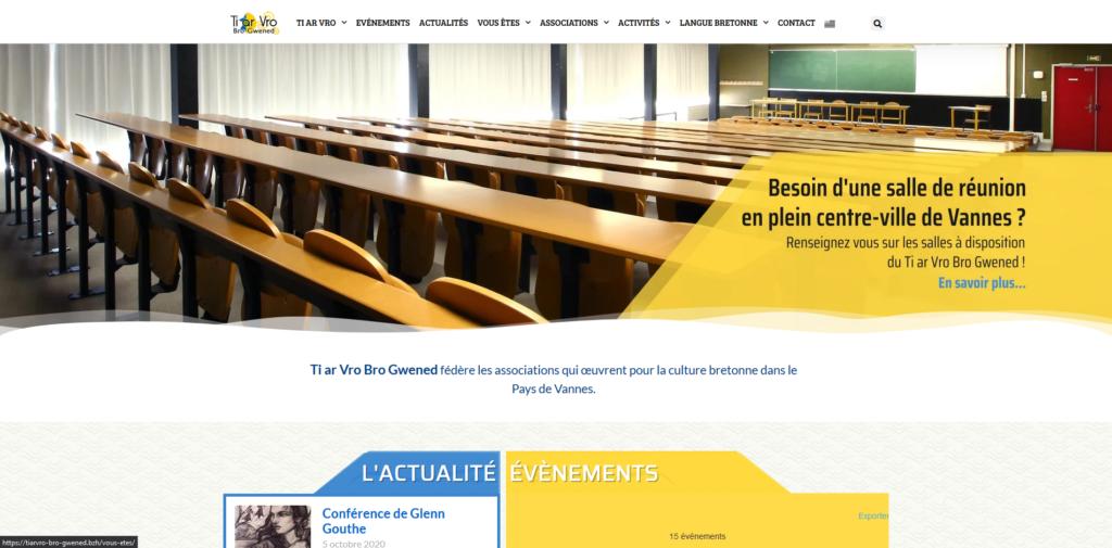 Site internet de Ti ar Vro Bro Gwened (Fédération d'associations située à Vannes (56000))