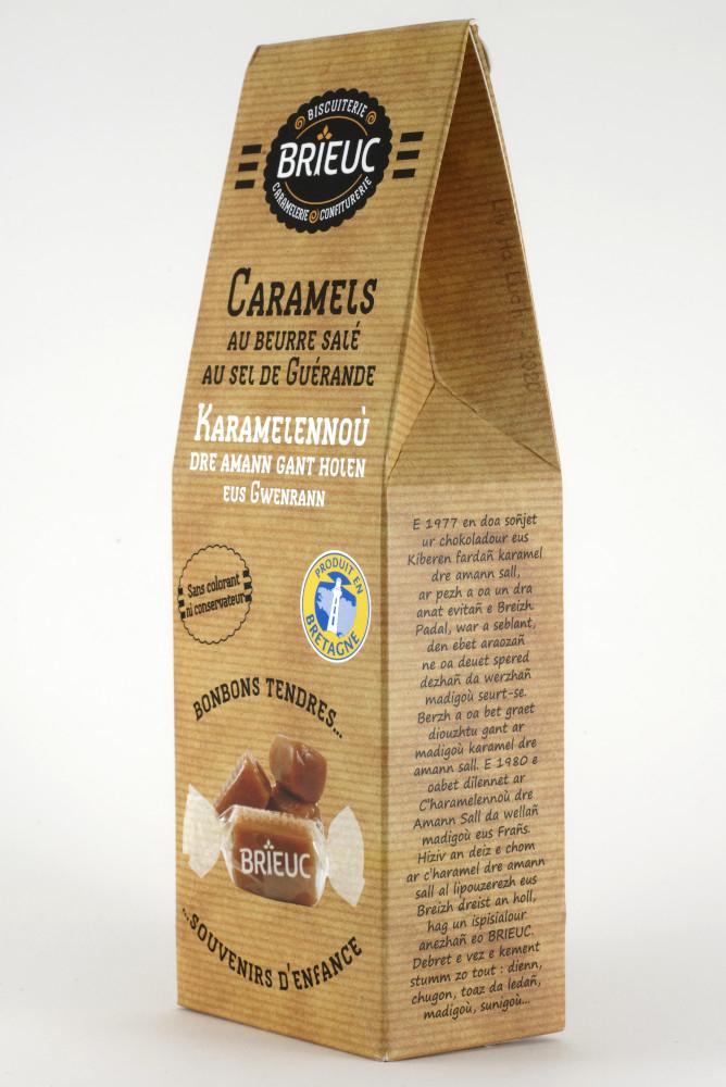 """Boite de caramels au beurre salé de la marque """"Brieuc"""""""